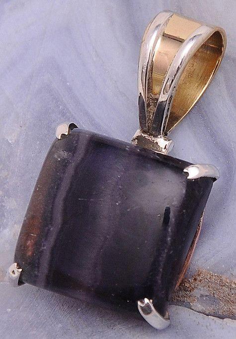 """Fluorite .925 Sterling Silver Jewelry Pendant 1.2"""""""