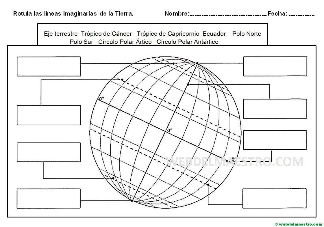Paralelos Y Meridianos Informacion Y Actividades Web Del Maestro Ensenanza De La Geografia Paralelos Y Meridianos Actividades De Geografia