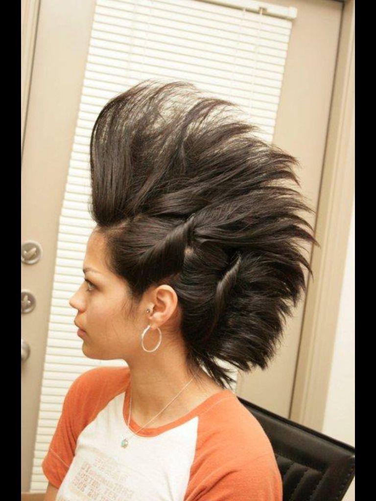 Mohawk hair created by me pinterest mohawks