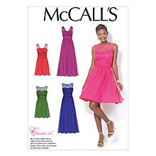 Buy McCall's Women's Prom Dress Sewing Pattern, 7090 Online