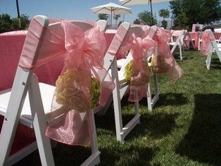 Bows on chairs