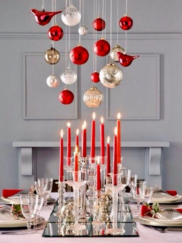 Top 250 Christmas Table Decorating Ideas On Pinterest Styleestate Christmas Table Decorations Christmas Centerpieces Christmas Tablescapes