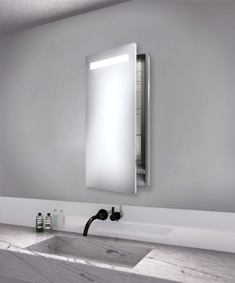 recessed bathroom medicine cabinets with mirrors luminous left recessed medicine cabinet by electric mirror 25699