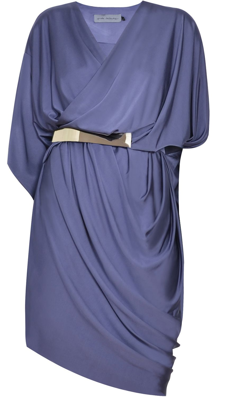 Vestido azul petróleo de punto de seda | Estilo | Pinterest ...