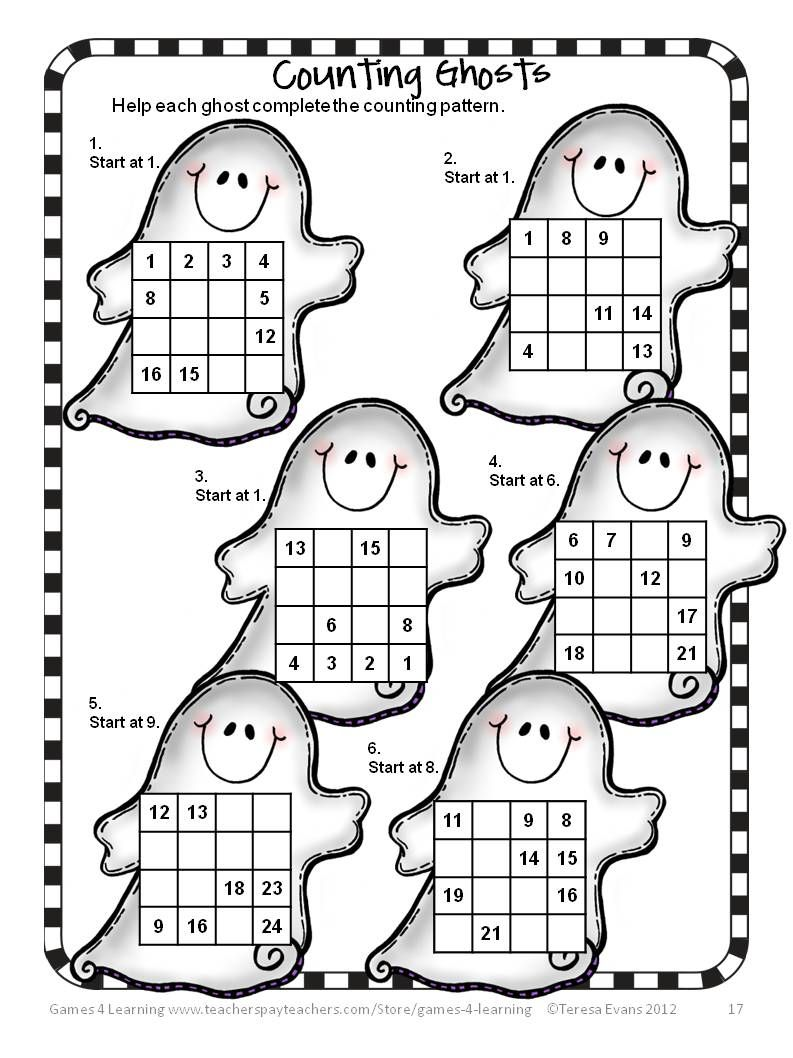 halloween activities halloween math games puzzles and brain