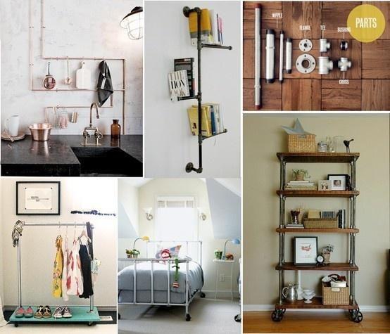 Crea tu mueble estilo industrial con tuberías