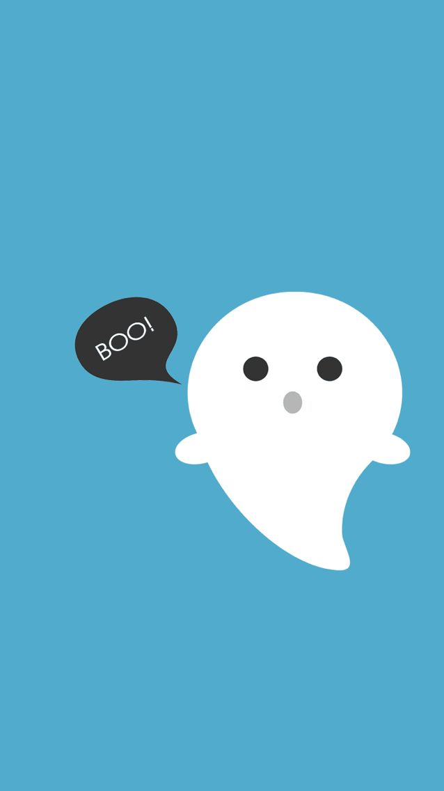 Blue Ghost Iphone Wallpaper Cute Halloween Wallpaper Cute Cartoon Wallpapers Cartoon Wallpaper
