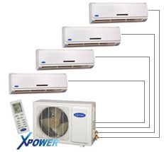 Performance Series Xpower Multi Split Ductless High Wall Heat Pump System With Inverter Technology Heat Pump Installation Heating Air Conditioning Heat Pump