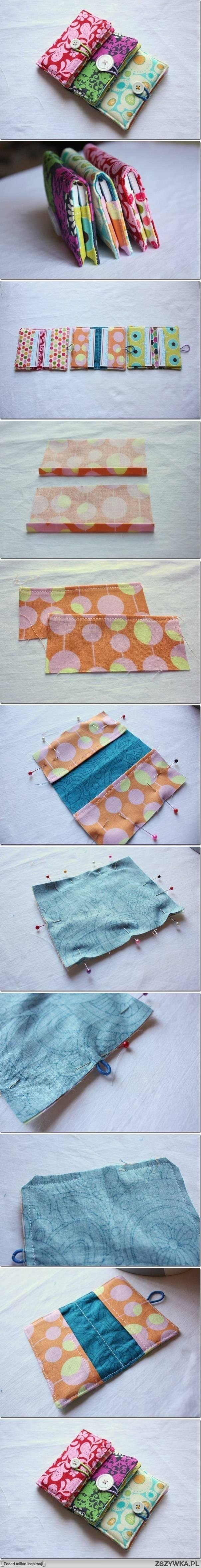 diy, sew, business, card, holder
