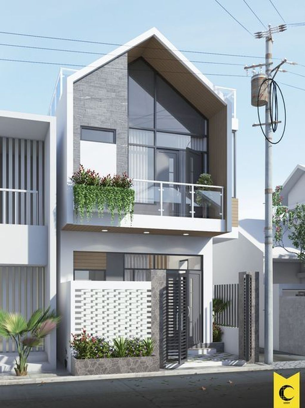 Pin By C C On Archi 外觀 Townhouse Designs Fasade House Modern