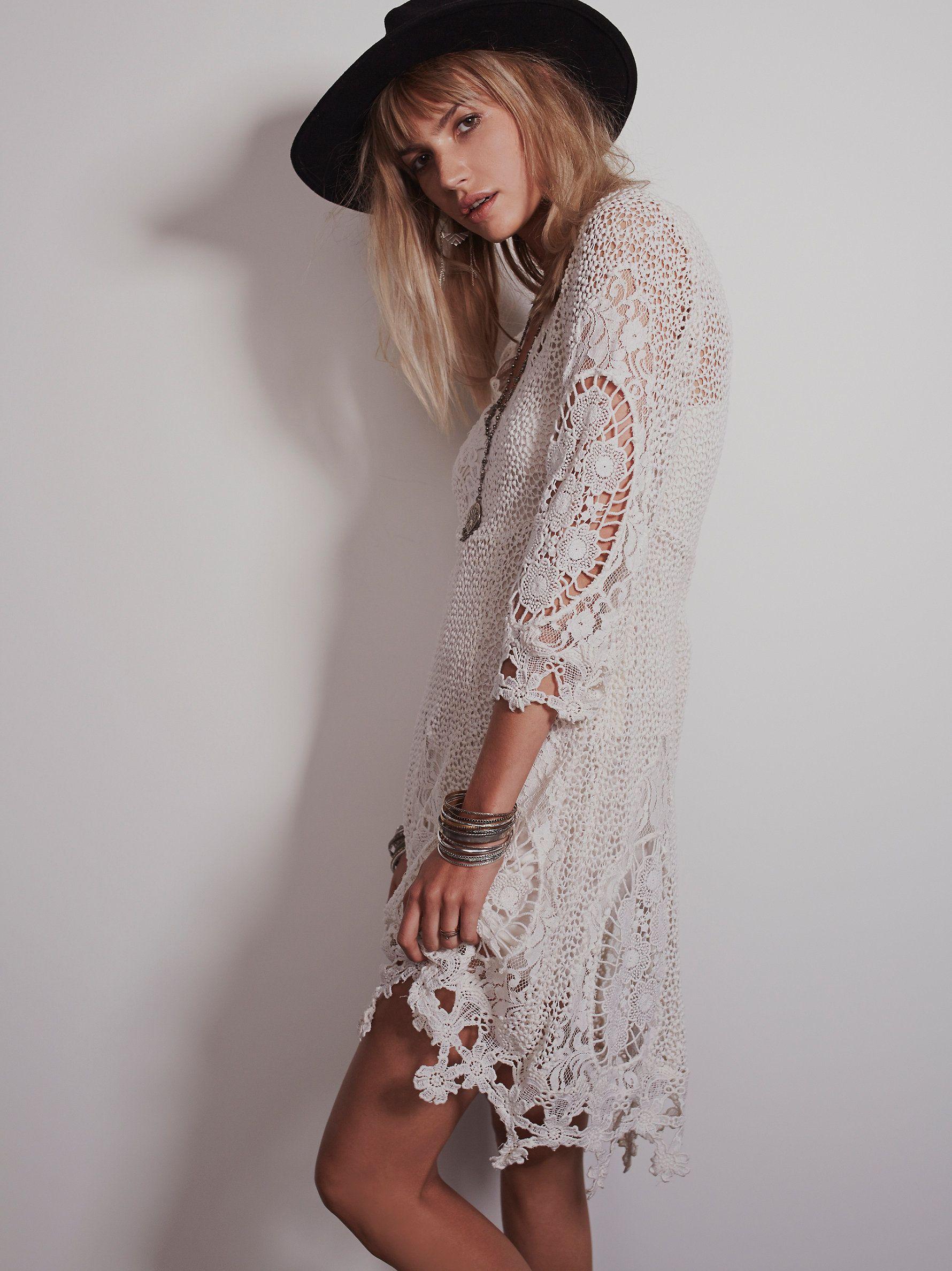Free people white lace slip dress