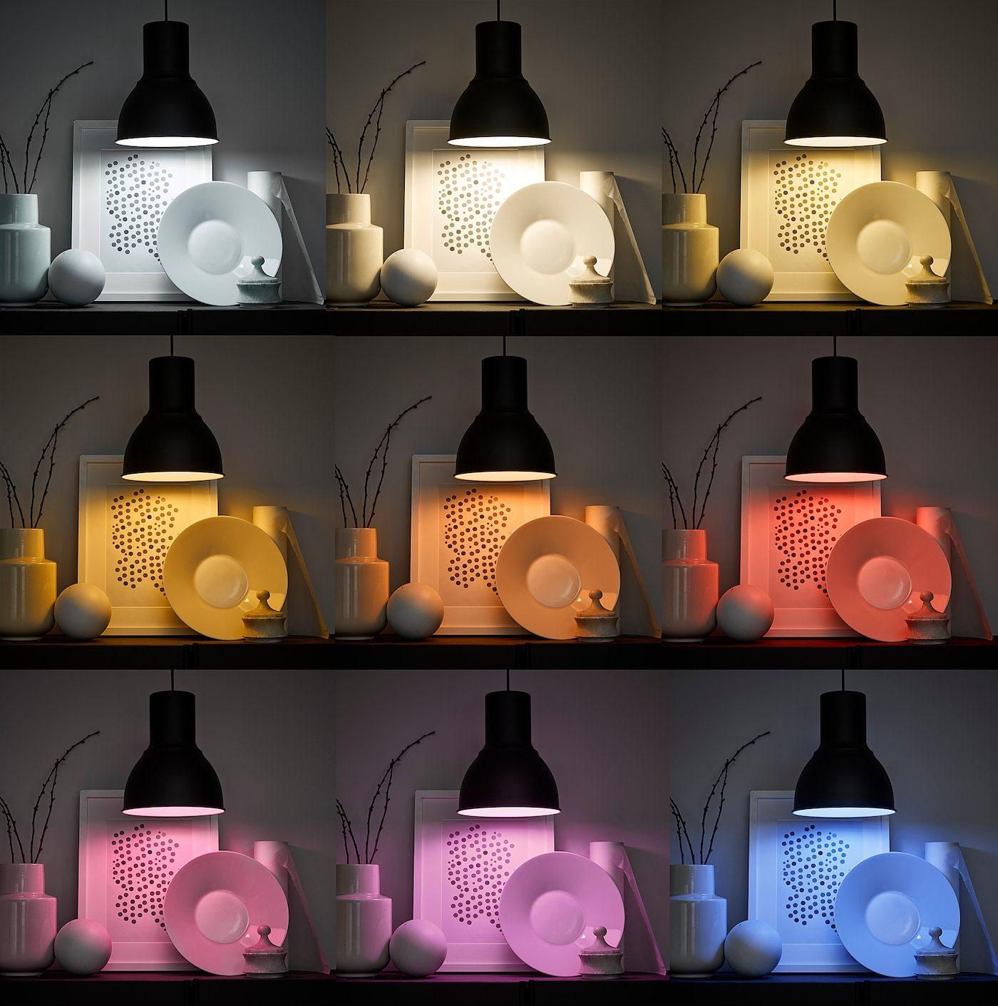 Tradfri Set Mit Gateway Farb Und Weissspektrum Ikea Deutschland Led Lampe Ikea Zuhause Beleuchtung