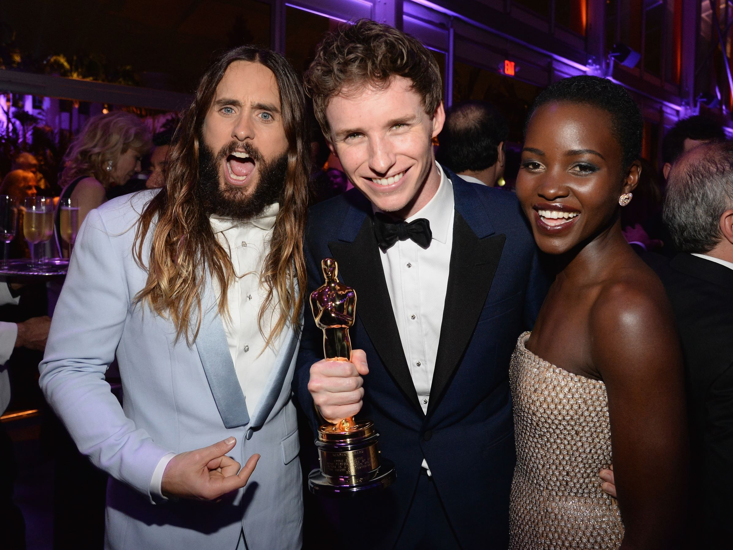2015 Academy Awards Afterparties Jared Leto, Eddie Redmayne and Lupita Nyong'o