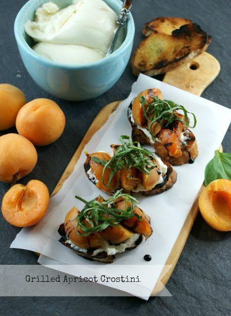 Grilled Apricot Crostini #BHGSummer