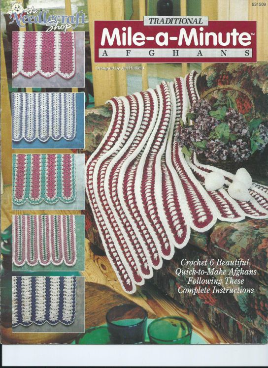 Crochet Mile-a-Minute Traditional Afghan Patterns The Needlecraft ...