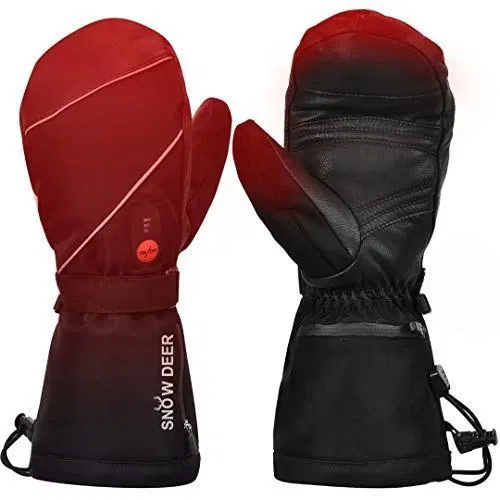 Mens Womens Heated Ski Gloves Mittens 7 4v 2200mah Electric Rechargeable Battery Gloves Best Offer Heated Gloves