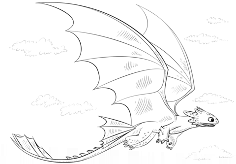 Toothless Dragon coloring page | Free Printable Coloring Pages ...