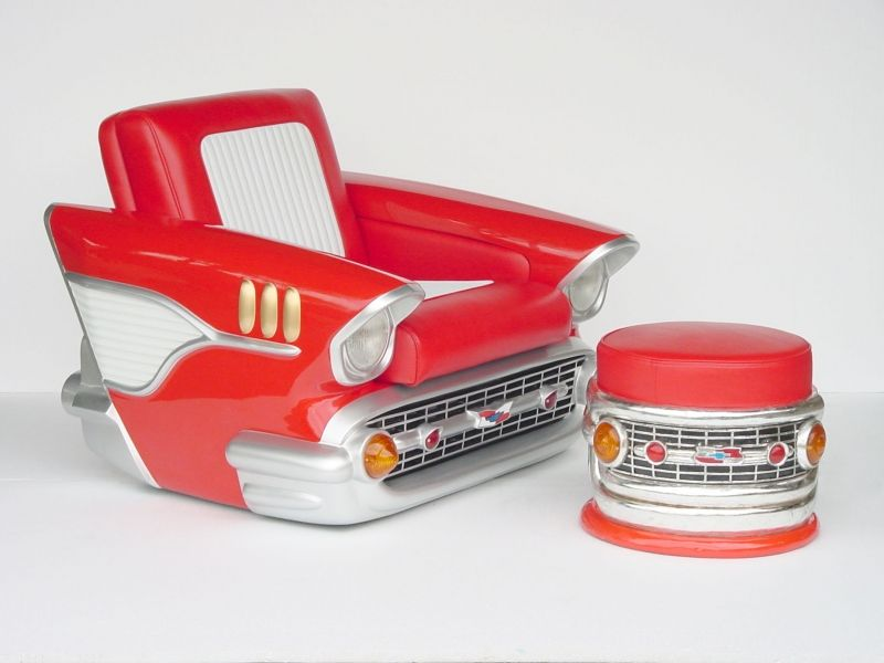 Pop Art Decoration - Furniture - Sofas - Chevrolet Checy Car Chair Single Seater
