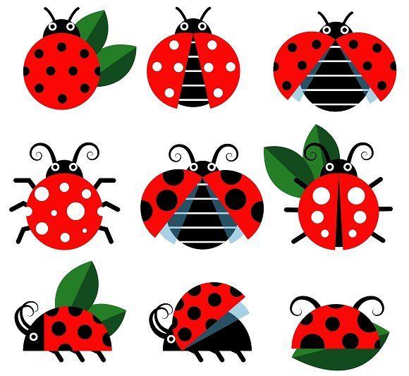 Cute Ladybug Vector By Microone On Creativemarket Ladybug Cartoon Styles Free Vector Art