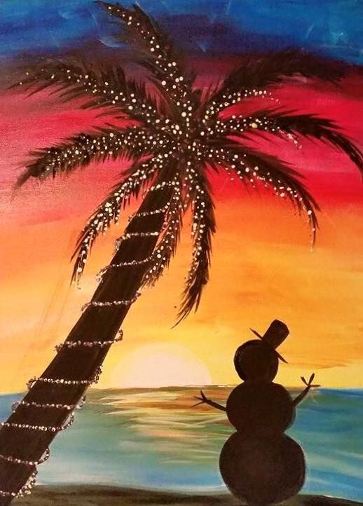 image result for florida xmas painting painting ideas pinterest