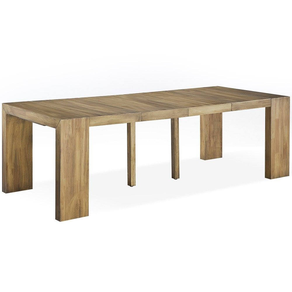 Table Console Extensible Bois Massif