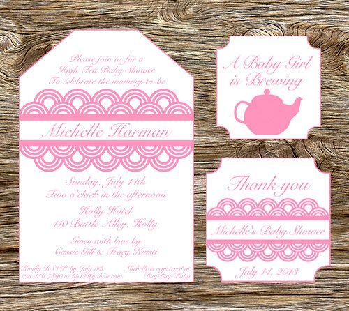 set of 10 thank you high tea party baby or bridal shower favor tags leslie