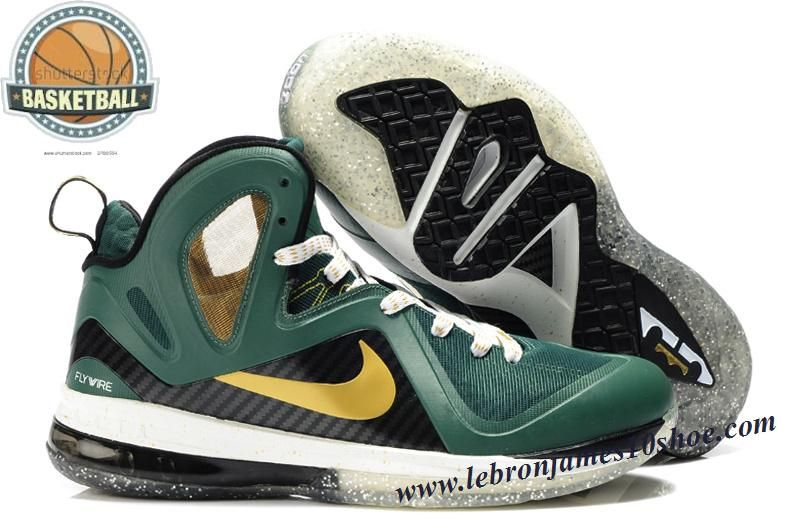 Nike Lebron 9 P.S. Elite Green Gold Black