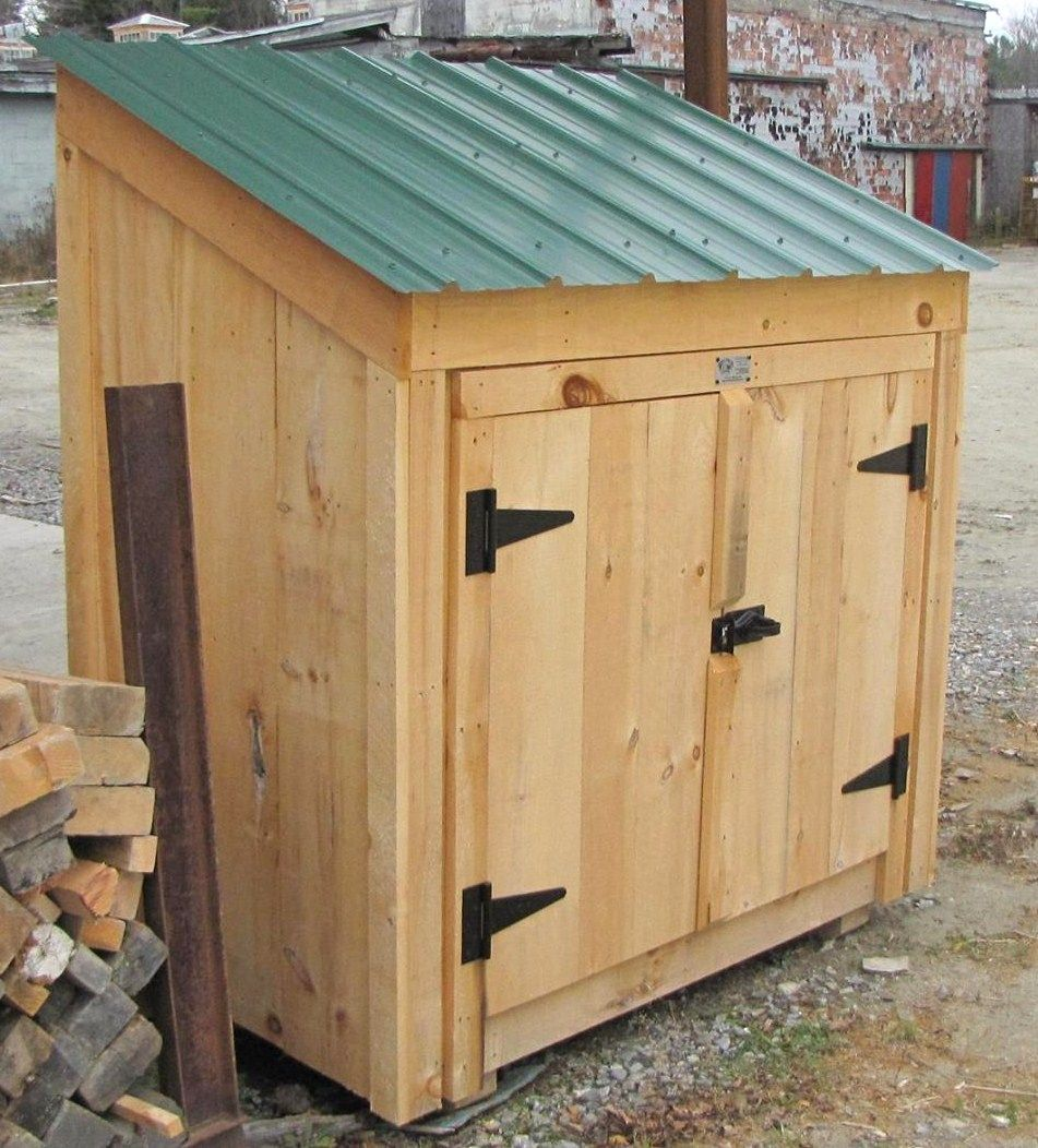 Our 3 39 x 5 39 garbage bin is available as shed kits diy for Garden shed designs 5