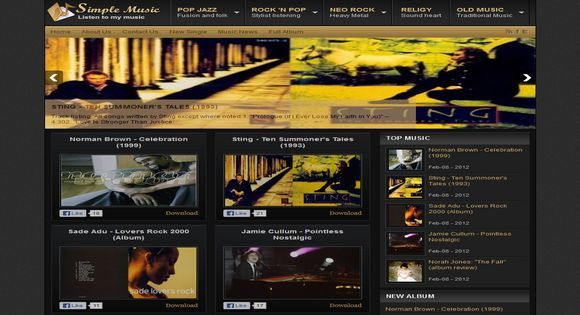 Johny simple music blogger templates pinterest template and blogger template free johny simple music pronofoot35fo Images