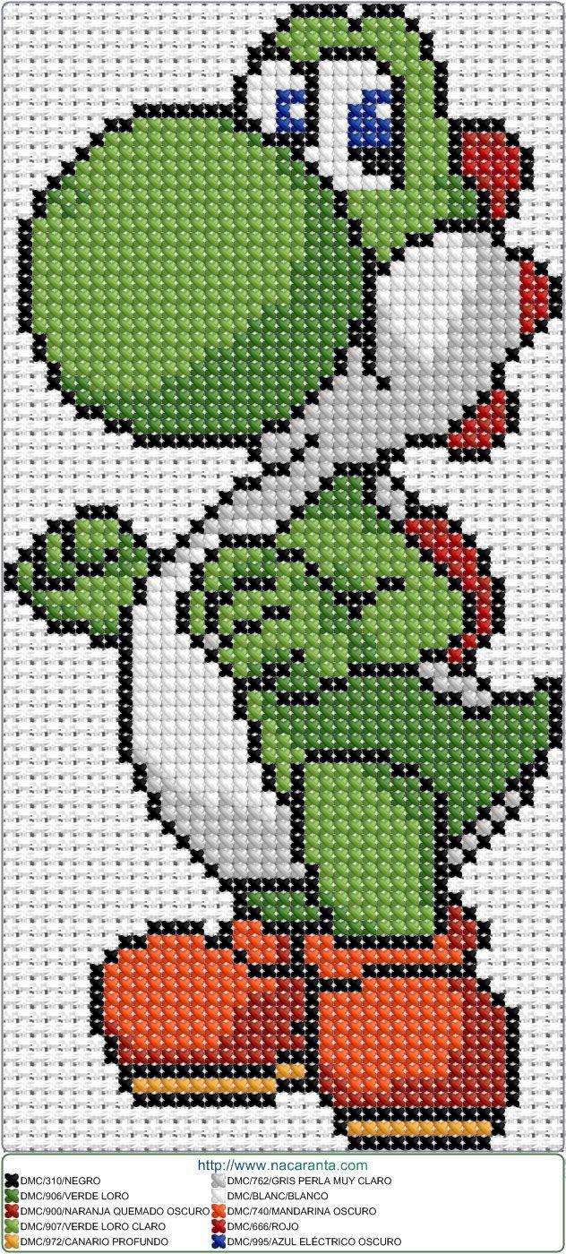 Yoshi EN PUNTO DE CRUZ   bordar   Pinterest   Decken, Stickmotive ...