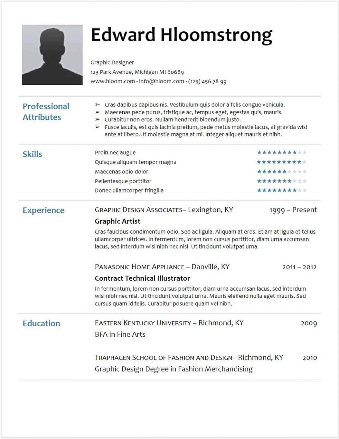11 Resume Template Hloom in 2020 Sample resume templates