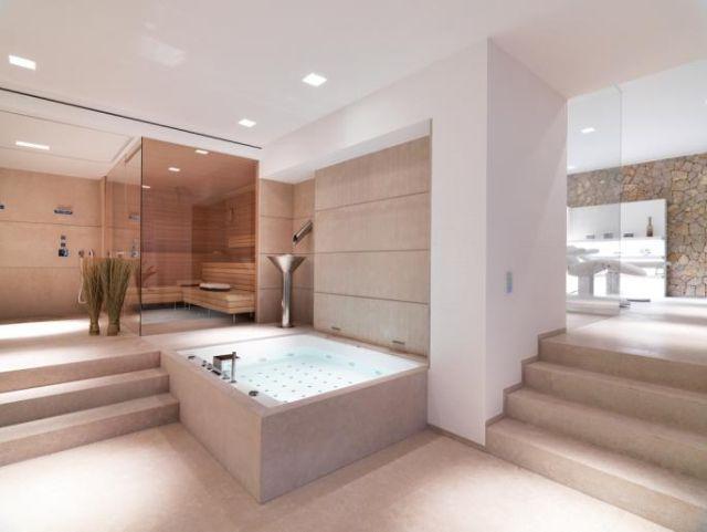 moderne residenz wohnf hl badezimmer mit badewanne dusche. Black Bedroom Furniture Sets. Home Design Ideas