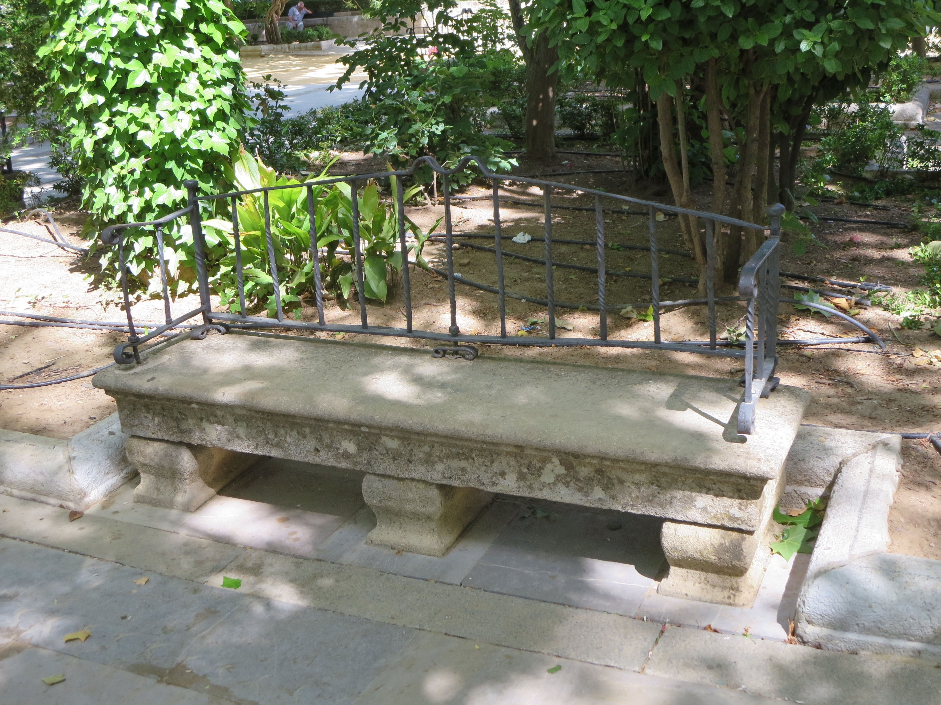 bench in andalusie