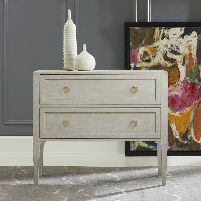 Gustavian 2 Drawer Accent Chest With