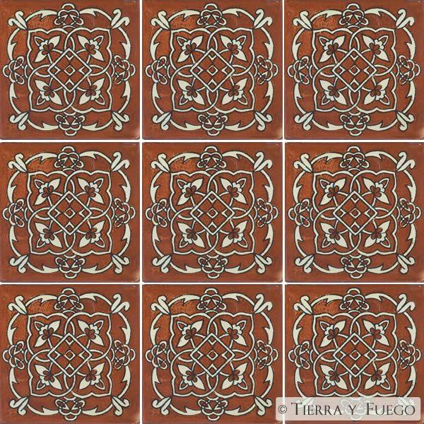 Mexican Tile Designs   Mexican Tile - Terra Cotta Oriental Mexican Tile