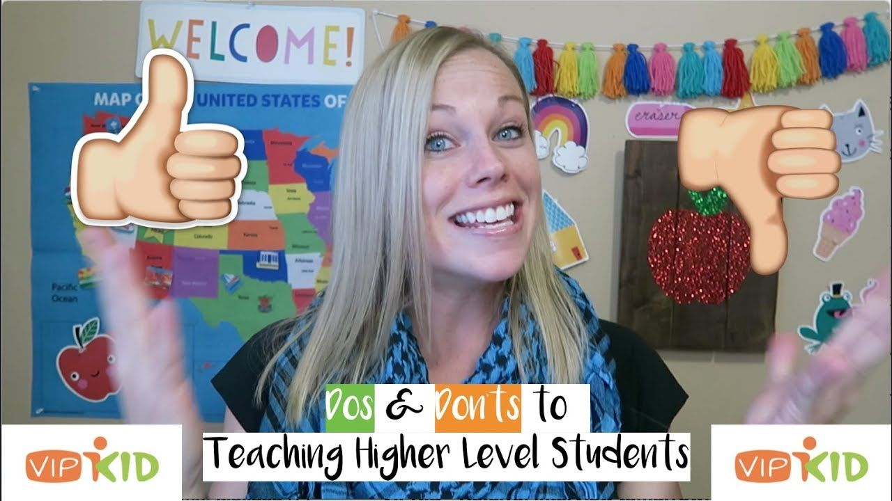 VIPKID Dos and Don'ts for Teaching Higher Level Students