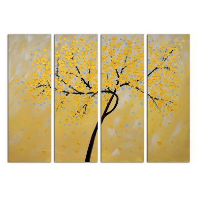 OMAX Decor Petals Wall Art - Set of 4 - M 3131 | Wall art sets and ...
