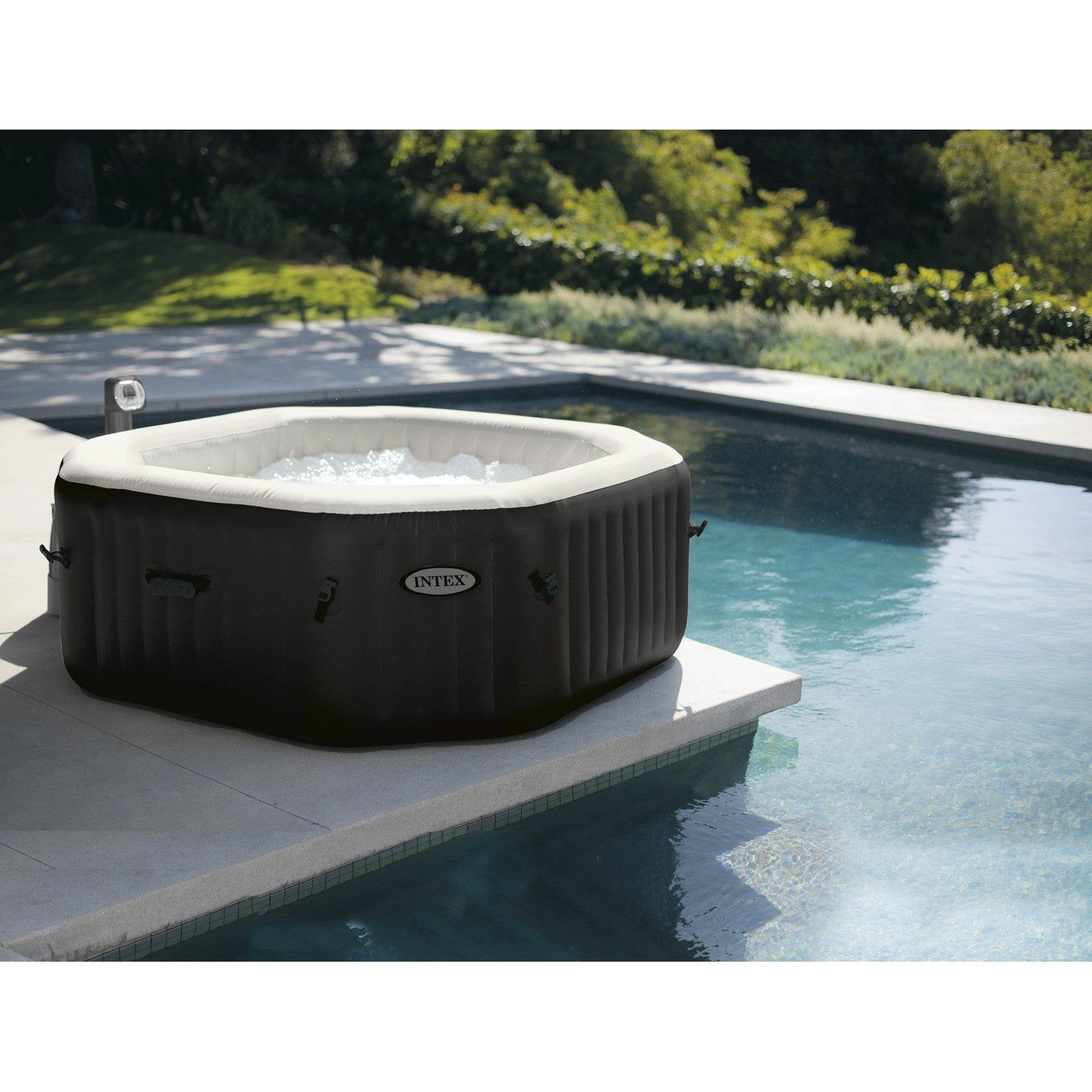 Jacuzzi 6 Places Leroy Merlin spa gonflable intex pure spa octogonale, 6 places assises