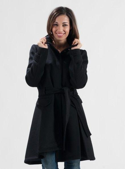 promo code f265d 52c91 PATRIZIA PEPE CAPPOTTO 90% Lana 10& Cashmere Colore Nero ...
