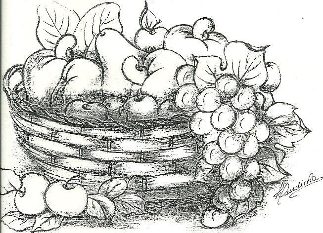 Image result for cesta de frutas para colorear   pinturas   Pinterest