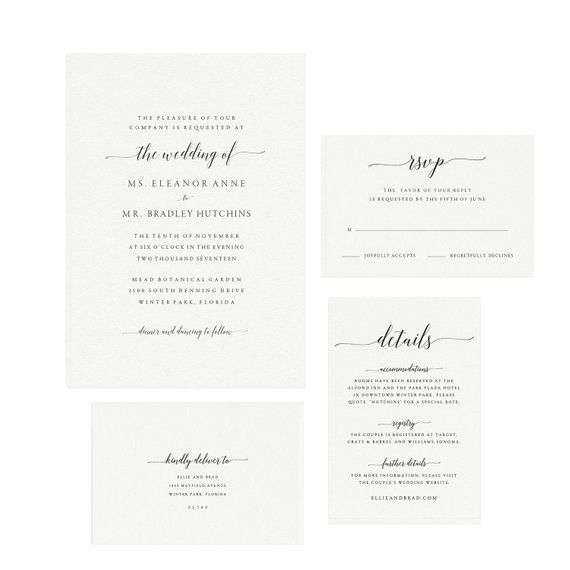 photo relating to Printable Wedding Invitation Kits known as Adel: Fast Printable Wedding day Invitation Template