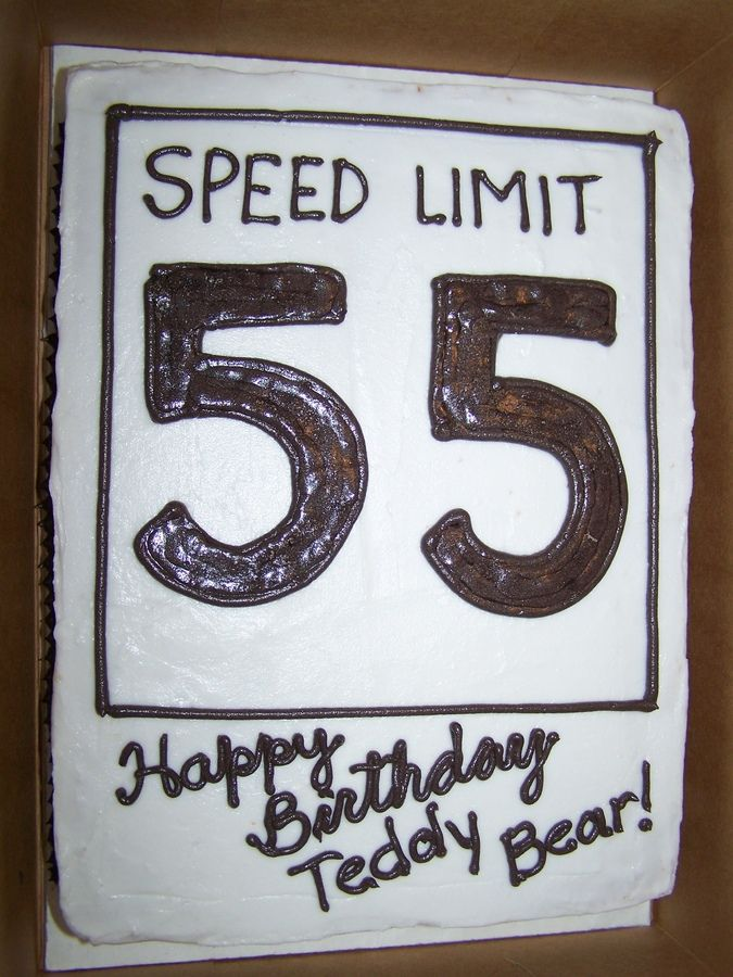 Speed Limit Cool Birthday Cakes 55th Birthday Birthday Cakes