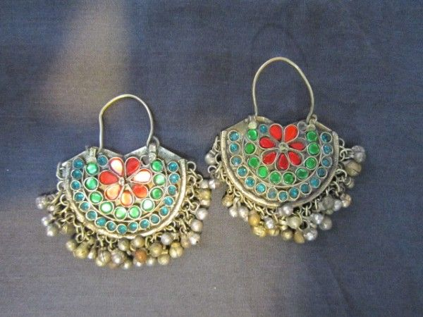 Earring with Different Color Stones - Saneens.com Online Shop