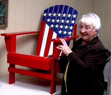 Patriotic Adirondack Chair These Would Look Cool By Mom S Pool