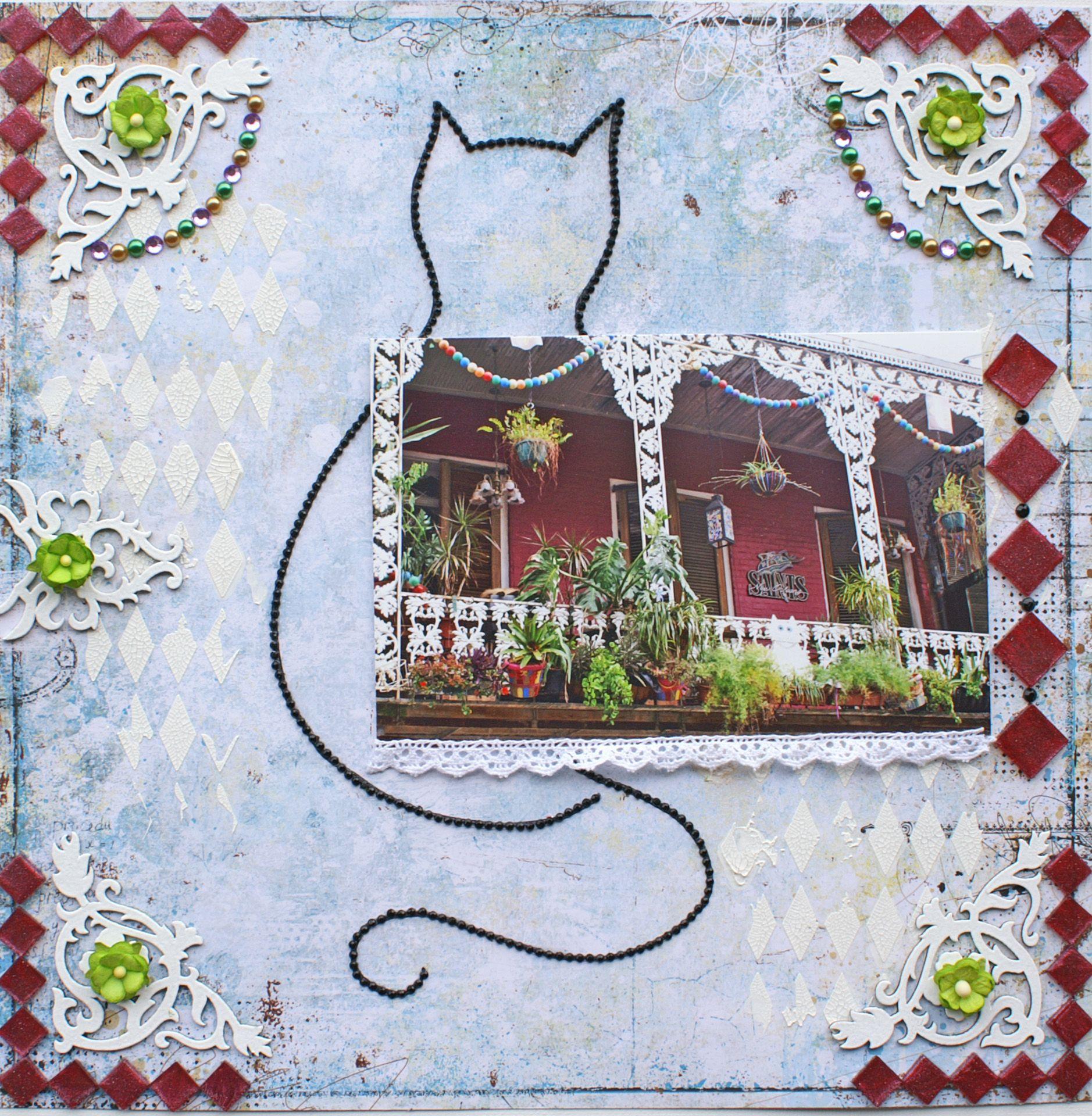 Scrapbook ideas new orleans - Delightful New Orleans Cat House Scrapbook Com