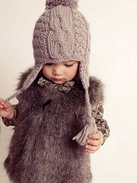 little person fashion. grays and furs.