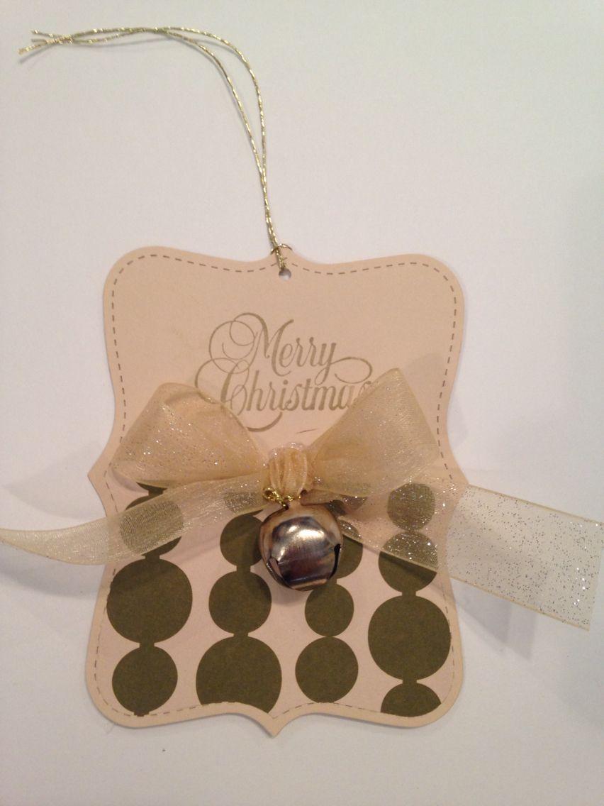 Christmas gift tag Kaylee Stampin' Up!