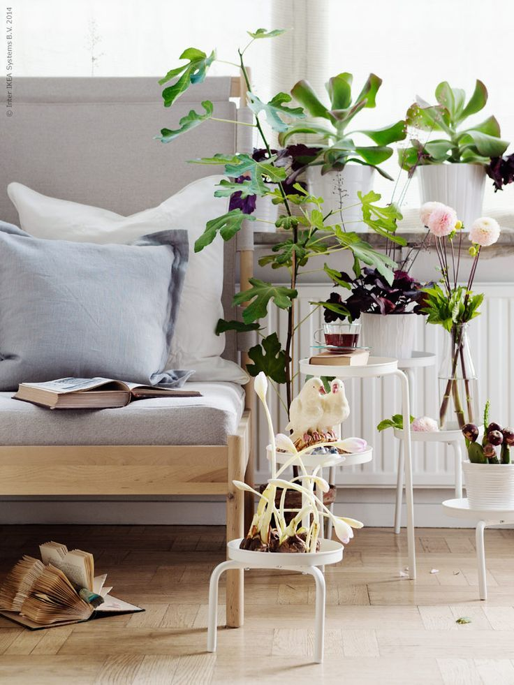 Ikea ps 2014 plant stand indoor outdoor white white for Ikea plantes