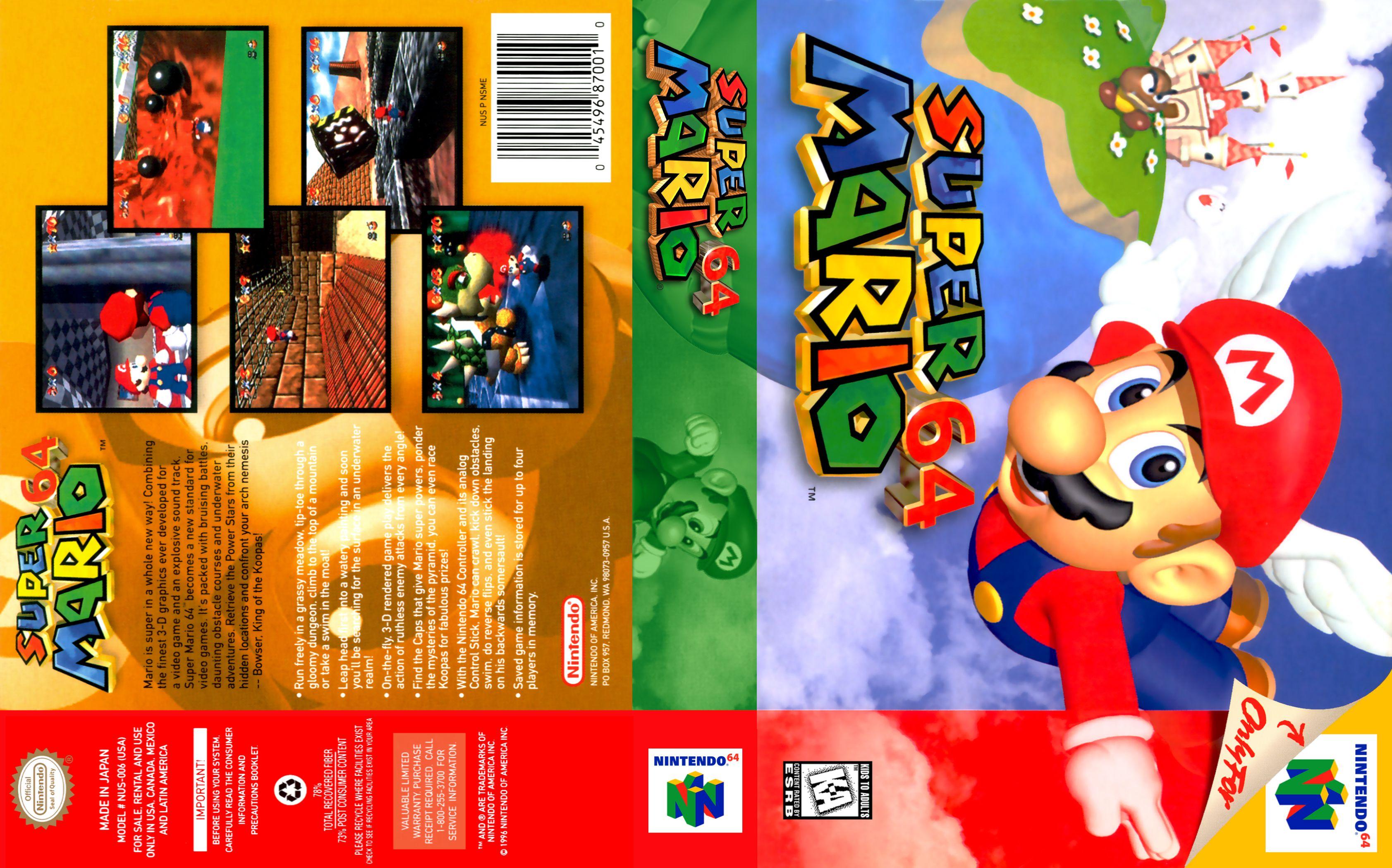 Super Mario 64 Nintendo 64 Covers Cover Century Over 500 000