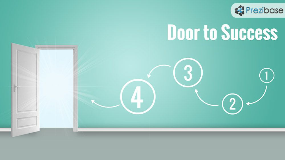 Creative Door To Success Opened Prezi Template Prezi Templates